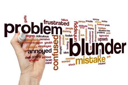 blunder: Blunder word cloud