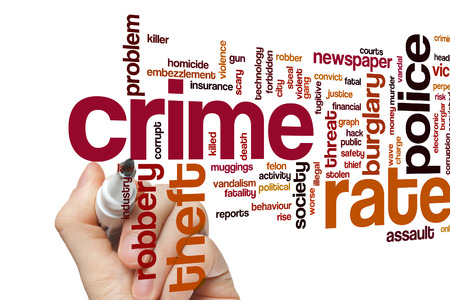 crime: Crime rate concept word cloud background