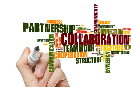 Collaboration concept word cloud background