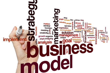 business model: Business model word cloud concept Stockfoto