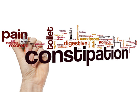 Constipation word cloud concept