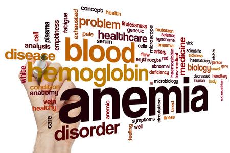 anaemia: Anemia concepto de nube de palabras