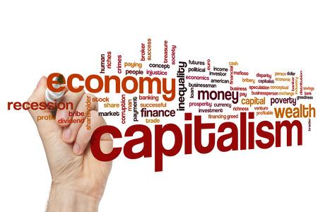 capitalismo: El capitalismo concepto de nube de palabras