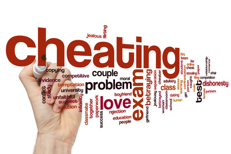 Cheating concept word cloud background Stock Photo