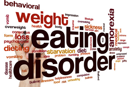 behavioral: Eating disorder word cloud concept