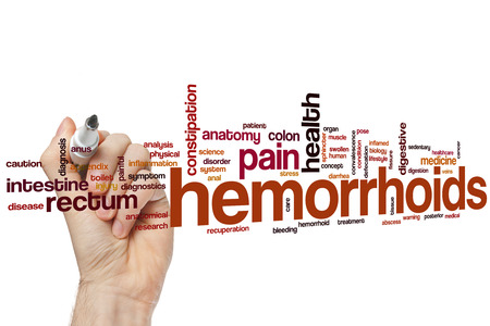 hemorrhoid: Hemorrhoids word cloud concept