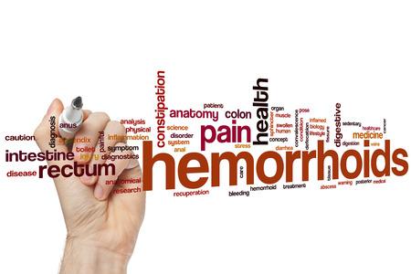 hemorrhoids: Hemorrhoids word cloud concept