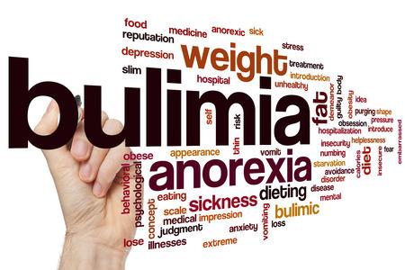bulimia: Bulimia word cloud concept Stock Photo