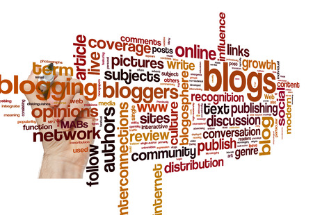 bloggers: Blog and blogging concept word cloud background