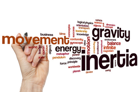 creative force: Inertia concept word cloud background