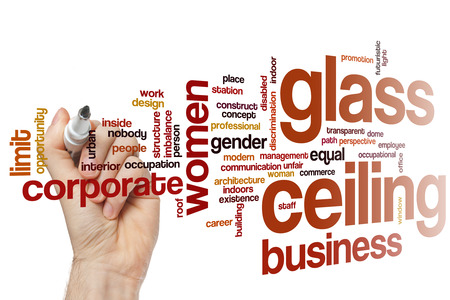 glass ceiling: Glass ceiling concept word cloud background