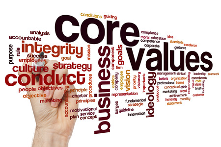 Core values concept word cloud background Фото со стока - 42386986