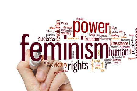 feminismo: Feminismo concepto de nube de palabras de fondo