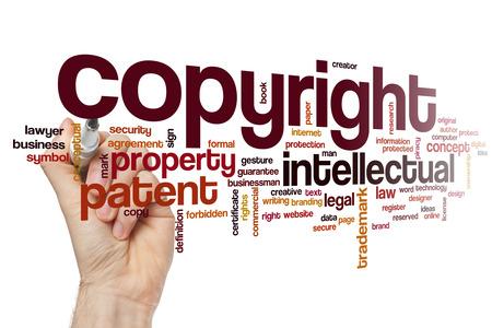 저작권 단어 구름 스톡 콘텐츠
