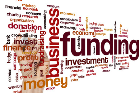 successful campaign: Funding word cloud concept