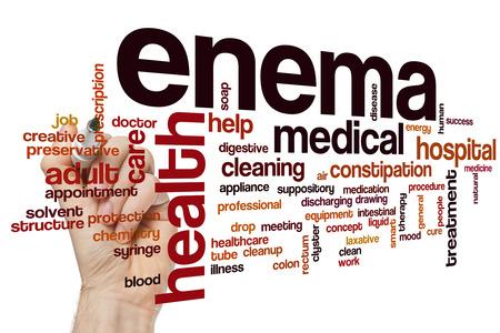 einlauf: Enema Wort Cloud-Konzept