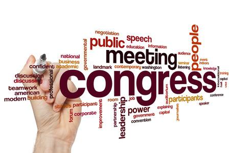 congress: Congress concept word cloud background Stock Photo