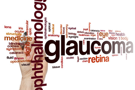 glaucoma: Glaucoma word cloud concept