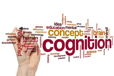 cognicion: Cognición concepto de nube de palabras Foto de archivo