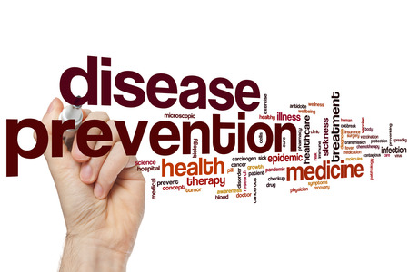 prevention of disease: Disease prevention word cloud concept
