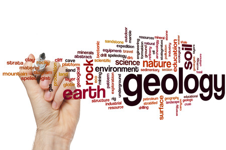 geology: Geology concept word cloud background