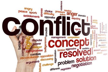 negociacion: Conflicto concepto de nube de palabras