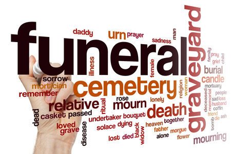 funeral: Funeral word cloud concept