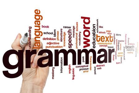 Grammatica-concept, Woord, wolk achtergrond