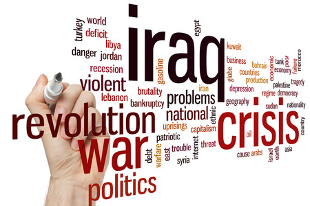 egypt revolution: Iraq crisis concept word cloud background