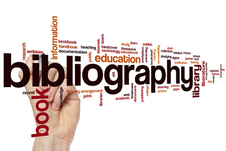 bibliography: Bibliography concept word cloud background