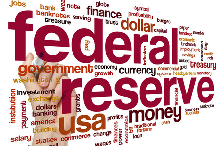 Federal reserve concept word cloud background
