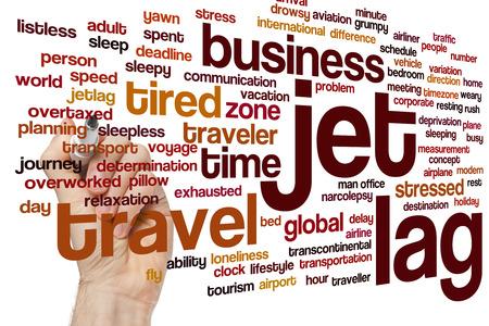 timezone: Jet lag concept word cloud background Stock Photo