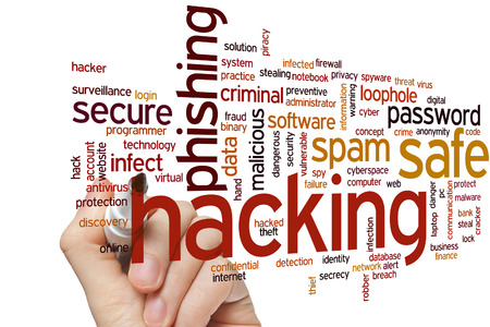 Hacking concept word cloud background