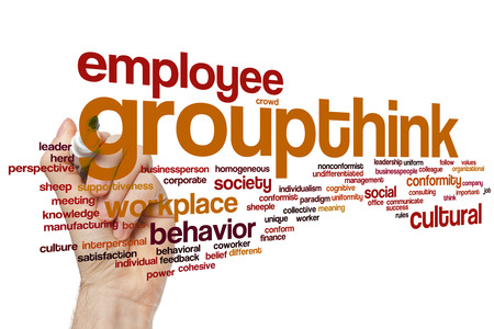 conform: Groupthink concept word cloud background