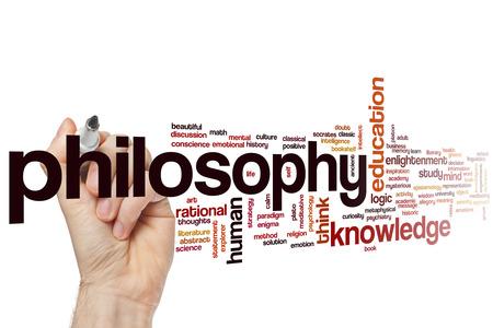 philosophy of logic: Philosophy concept word cloud background