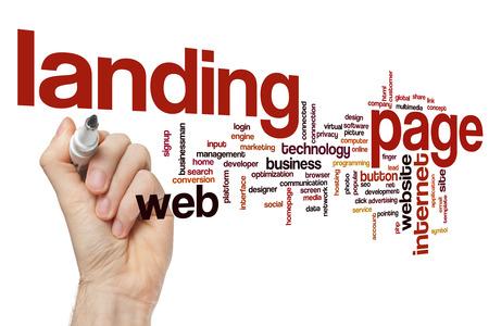 Landing page word cloud Banque d'images