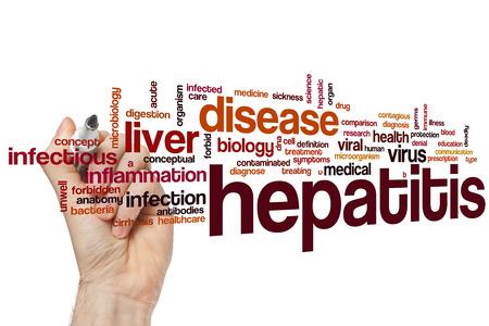 Hepatitis word cloud concept