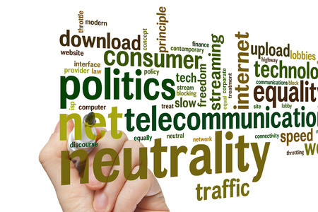 neutrality: Net neutrality concept word cloud background Stock Photo