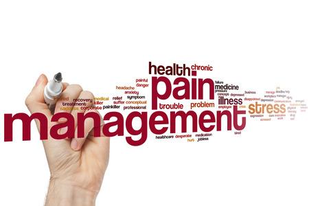 Pain management word cloud concept Foto de archivo