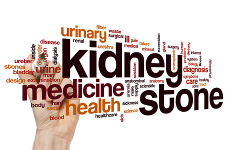 kidney transplant: Kidney stone word cloud concept