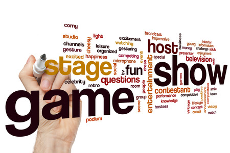 game show: Game show word cloud concept Stock Photo