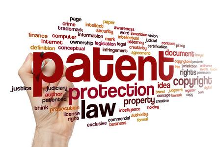 Patent word cloud Archivio Fotografico