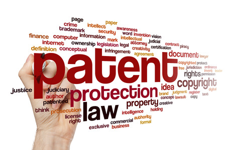 Patent word cloud Stock Photo