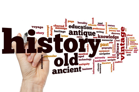 black history: History concept word cloud background
