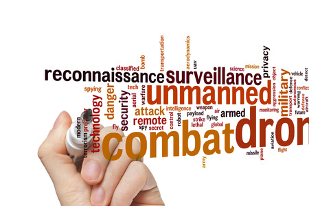 payload: Combat drone concept word cloud background