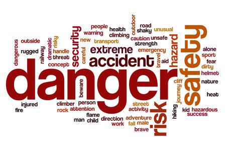 peligro: Peligro nube de palabras