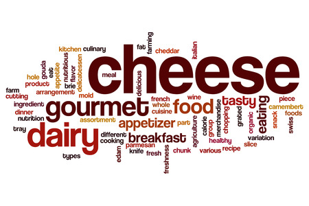 edam: Cheese word cloud Stock Photo