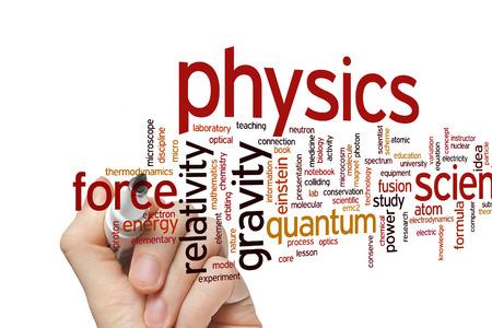 물리학 개념 단어 구름 배경 스톡 콘텐츠