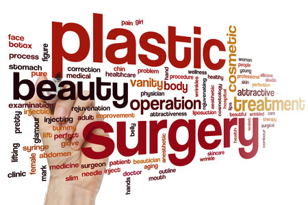 plastic glove: Plastic surgery concept word cloud background