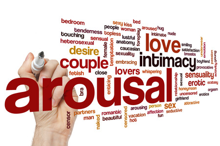 sex activity: Arousal word cloud concept